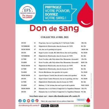 Donnez votre sang en avril en Corse-du-Sud